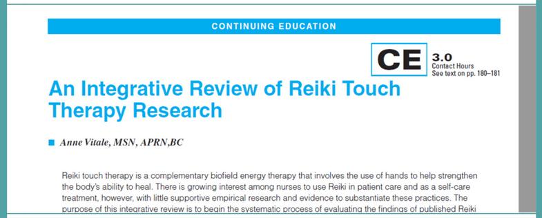 Versión integrativa de Anne Vitale en cuanto a la terapia Reiki